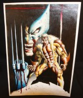 Wolverine and Sabretooth Painted Art - 2006 Signed Comic Art