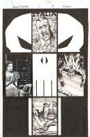 Punisher: Nightmare #1 p.7 - Super Cool Punisher Skull Layout - Punisher Sketch on Back - 2013 Signed Comic Art
