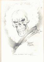 Ghost Rider Portrait Pencil Art - Signed Comic Art