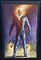 Ghost Rider Painted Art Piece - 2016 Signed Comic Art