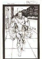 Punisher: Nightmare #1 p.3 - Awesome Punisher Walking Splash - 2013 Signed Comic Art