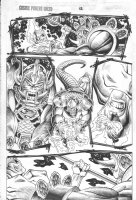 Cosmic Powers Unlimited #? p.12 - Firelord vs. space alien action Comic Art