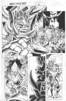 Cosmic Powers Unlimited #? p.6 - Firelord and alien Comic Art