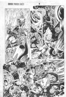 Cosmic Powers Unlimited #? p.8 - Firelord space battle Comic Art