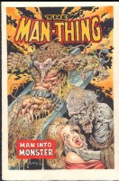 Man-Thing #8 Painted Art Cover Re-creation - Very Rare - Signed Comic Art