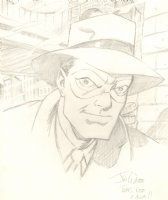 The Spirit Will Eisner Style Pencil Portrait Commission - Signed Comic Art