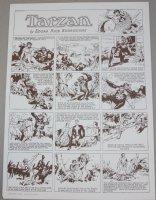 Tarzan by Edgar Rice Burroughs Sunday Page Print - 1973 Comic Art