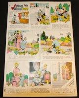 Prince Valiant #1647 Vintage Color Proof - 9/1/1968 Comic Art