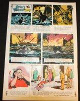 Prince Valiant #1645 Vintage Color Proof - 8/18/1968 Comic Art