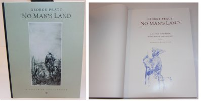 No Mans Land: A Postwar Sketchbook - B - With a Sketch on the Inside by the Artist - 1992 / 2002 Signed Comic Art