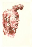 Native American Red Inkwash - Signed Comic Art