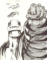 Blood Syndicate Character - 1994 Signed Comic Art