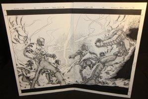 Uncanny X-Men #430 pgs. 13 & 14 - Wolverine & Other Mutants DPS - 2003 Comic Art