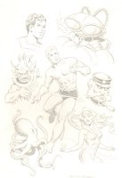 Aquaman Character Montage - 7 Figures ( 11x17 Comic Art