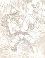 Adam Strange Pencil Commission - Signed Comic Art