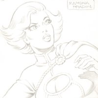 Power Girl Pencil Sketch - Signed Comic Art