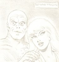 Metamorpho and Babe Pencil Commission - Signed Comic Art