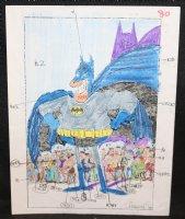 Batman Colored Production Art STAT - 1988 Comic Art