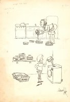 ''Mothers are Funnier than Children'' - Doing the Chores - Signed Comic Art