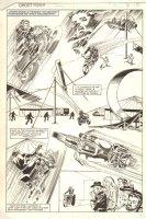 Ghost Rider #63 p.9 - Johnny Blaze Stunt Riding His Motorcycle Splash - 1981 Comic Art
