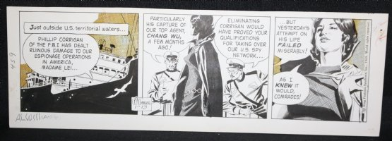 Secret Agent Corrigan Daily Strip - 1/13/1969 Signed Comic Art