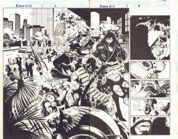 Bishop: XSE #1 p.2 - Radical Terrorist Group: Fanatix DPS - 1998  Comic Art