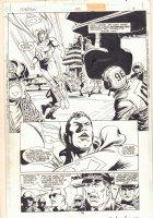 Superman #145 p.6 - Superman Lands on an Aircraft Carrier Splash - 1999 Signed Comic Art