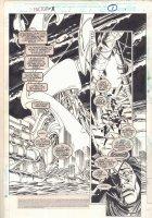 Factor X #1 p.1 - Fortress Splash - 1995  Comic Art
