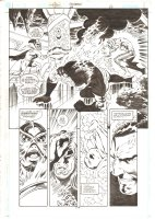 Aquaman #68 p.14 - Ocean Master vs. Aquaman & Tempest 1/2 Splash - 2000 Comic Art