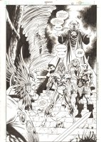 Aquaman #72 p.21 - Warlord, Mera, Aquaman, & Ocean Master Splash - 2000 Comic Art