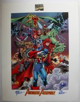 Avengers Assemble Print - Limited Edition of #1500 - 4 Available - Signed by Steve Epting, Tom Palmer, & Stan Lee Comic Art
