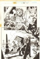 Tales from the Age of Apocalypse: Sinister Bloodlines p.22 - Graveyard 1/2 Splash - 1998 Comic Art