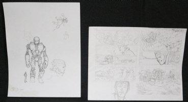 Gambit and Sentinel X-Men Pencil Prelims - Set of Two  Comic Art
