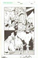 Meridian #2 p.13 - Pulp Fiction Signature Joke - 2000 Double Signed Comic Art