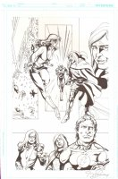 DC Retroactive: Flash, The - Page 17 - Golden Glider and Flash - Signed Comic Art