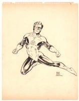 Green Lantern Commission - 1982 Signed Comic Art