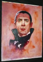 Bela Lugosi Universal Monsters Color Painted Art - LA - Signed
