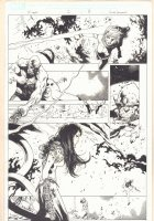 X-Men #2 p.8 - Rogue vs. Arkea Prime Action - 2013 Signed Comic Art