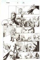 Siege #1 p.11 - Iron Patriot Norman Osborn, Black Suit Spider-Man, Hawkeye, Ms. Marvel, Sentry, and Daken - 2010 Comic Art