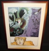 Epic Illustrated #30 p.22 - 'Raven Banner' Beautiful Painted Art - 1985 Signed Comic Art