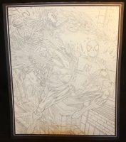 Spider-Man vs. Vencom Action Pencil Commission - LA - Signed Comic Art