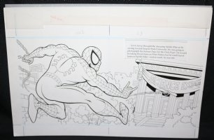 Spider-Man: Caught in the Web Children's Book pgs. 2 & 3 - Spidey Web-Slinging DPS - 1997 Comic Art