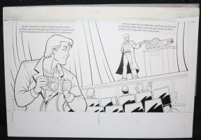 Spider-Man: Caught in the Web Children's Book pgs. 4 & 5 - Peter Parker Taking Pictures and Dr. Connors  DPS - 1997 Comic Art