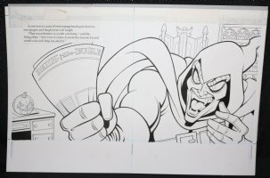 Spider-Man: Caught in the Web Children's Book pgs. 6 & 7 - The Hobgoblin DPS - 1997 Comic Art