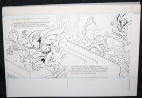 Spider-Man: Caught in the Web Children's Book pgs. 8 & 9 - Hobgoblin and Scorpion DPS - 1997 Comic Art