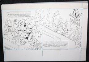 Spider-Man: Caught in the Web Children's Book pgs. 8 & 9 - Hobgoblin and Scorpion DPS - 1997 Comic Art