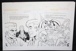 Spider-Man: Caught in the Web Children's Book pgs. 10 & 11 - J. Jonah Jameson and Hobgoblin DPS - 1997 Comic Art