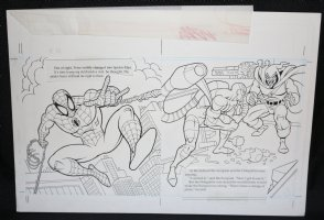 Spider-Man: Caught in the Web Children's Book pgs. 14 & 15 - Spidey, Scorpion, and the Hobgoblin DPS - 1997 Comic Art