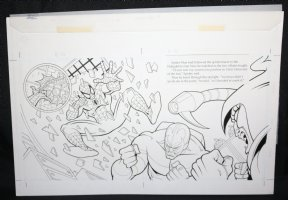 Spider-Man: Caught in the Web Children's Book pgs. 16 & 17 - Spidey crashes in on Scorpion and the Hobgoblin DPS - 1997 Comic Art