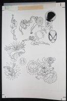 Spider-Man: Caught in the Web Children's Book Sticker Art - Spidey and the Hobgoblin - 1997 Comic Art